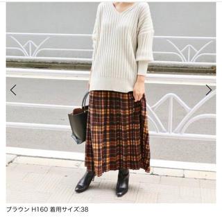 IENA - 美品 IENA イエナ チェックプリーツスカート