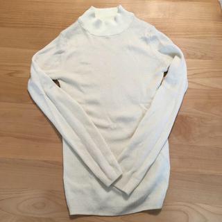 MUJI (無印良品) - 無印良品 首のチクチクをおさえたリブ編みハイネックセーター