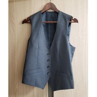 ジレ グレー スーツ(スーツベスト)