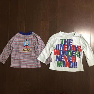 子ども用 長袖シャツ 90cm 2枚セット(Tシャツ/カットソー)