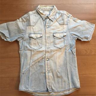 ブルーブルー(BLUE BLUE)のBLUE BLUE ☆リメイク デニム半袖シャツ(シャツ)