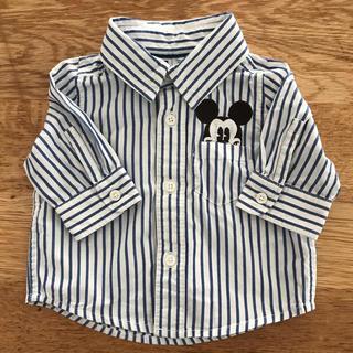 babyGAP - babyGAP★ミッキーストライプシャツ