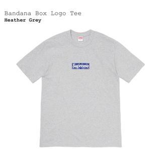Supreme - Bandana Box Logo Tee M Heather Grey 新品