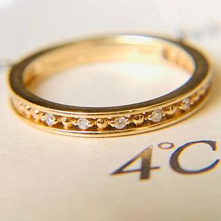 ヨンドシー(4℃)のk10  イエローゴールド 4°C ダイヤモンドピンキーリング(リング(指輪))