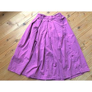 エージープラス(a.g.plus)の葡萄カラーフレアスカート/a.g.plus(ひざ丈スカート)