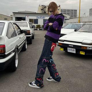 EVISU - 激レア EVISU many pockets patch denim pants