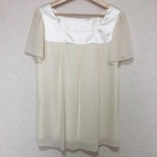 エフデ(ef-de)のエフデ 半袖カットソー ブラウス オフホワイト(Tシャツ(半袖/袖なし))