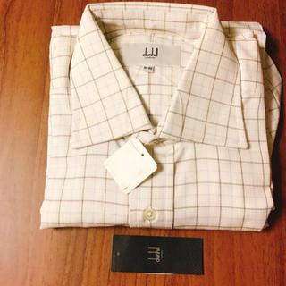 ダンヒル(Dunhill)の綿100% タグ付き長袖ワイシャツ(シャツ)