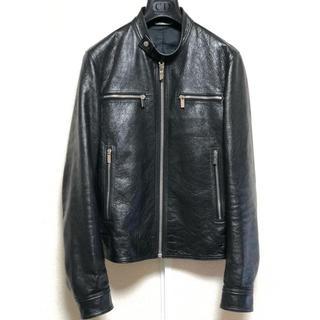 ディオールオム(DIOR HOMME)の新品同様 17AW Dior Homme ディオールオム レザージャケット 42(レザージャケット)