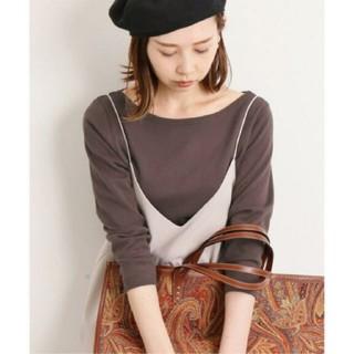 IENA - イエナ♡AURALEE IENA 別注ボートネックTシャツ 36 ブラウン