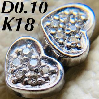 k18  ダイヤモンド パヴェ ハートピアス