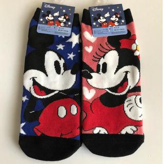 Disney - ミッキー&ミニー♡レディース靴下