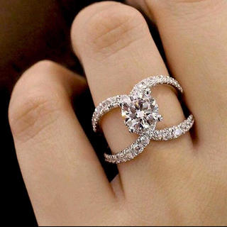 HARRY WINSTON - 新品  最高級人工ダイヤモンドリング 指輪 レディース