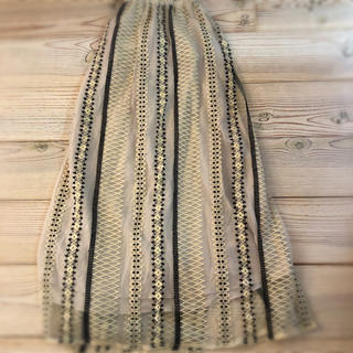 IENA SLOBE - スローブイエナ 刺繍シフォンスカート