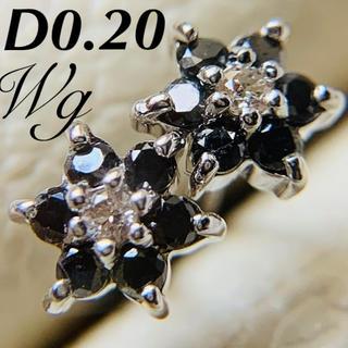 k14 ブラックダイヤモンド フラワーピアス k18  pt 好きさんにおすすめ