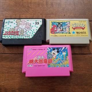ファミリーコンピュータ(ファミリーコンピュータ)のファミコン  ボードゲーム系 3本セット(家庭用ゲームソフト)