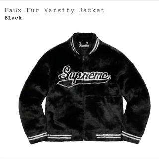 Supreme - 【L】supreme faux fur varsity jacket