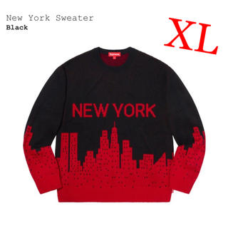 Supreme - Supreme New York Sweater XL / Black