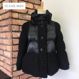 LE CIEL BLEU - 定価2.8万/美品 ルシェルブルー アウター/ダウン/ニット 38 ブラック系