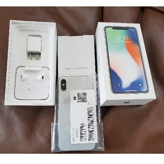Apple - 未使用品 iPhone X 本体 64GB ホワイト SIMフリー テン
