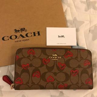 COACH - 【新品・未使用】ハート柄 COACH コーチ 長財布