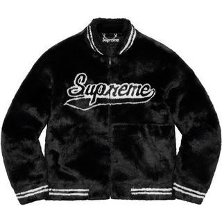 Supreme - S Supreme Faux Fur Varsity Jacket 黒 国内正規