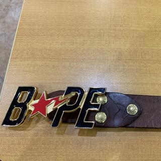アベイシングエイプ(A BATHING APE)のA BATHING APE  made in Japan 革ベルト(ベルト)