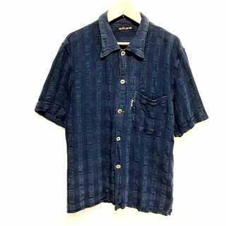 ブルーブルー(BLUE BLUE)の美品 BLUEBLUE ブルーブルー インディゴ ストライプ シャツ(シャツ)