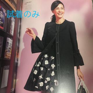 M'S GRACY - 美品❤️エムズグレイシー  薔薇柄  ティアード  フリル  スカート  黒
