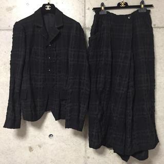 ヨウジヤマモト(Yohji Yamamoto)の【美品】Y's■ワイズ ジャケット パンツスカート セットアップ スーツ(テーラードジャケット)