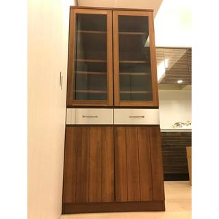 ウニコ(unico)の値引き 送料込み unico ストラーダ 食器棚 カップボード(キッチン収納)