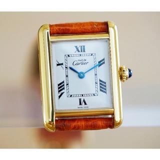 Cartier - 美品 カルティエ マスト タンク ホワイト ローマン SM Cartier
