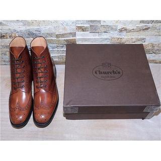 チャーチ(Church's)のチャーチ ウイングチップアンクルブーツ 茶 28,529cm(ブーツ)