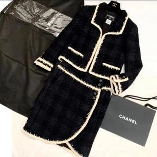 CHANEL - シャネル 正規 豪華なボタンのツイードスーツ