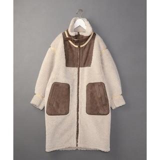 BEAUTY&YOUTH UNITED ARROWS - 6 roku FAKE MOUTON coat