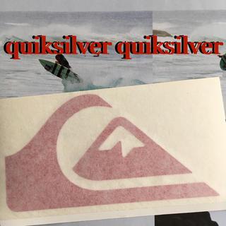 クイックシルバー(QUIKSILVER)のQUIKsilverクイックシルバーUS限定iconダイカットステッカーred(サーフィン)