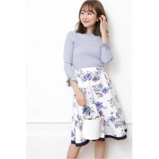 Rirandture - リラ♡ペイントブーケフラワーフレアスカート