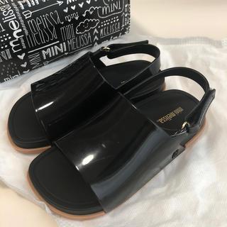 メリッサ(melissa)のメリッサ MiniMelissa Sandal (BLACK/BEIGE)(サンダル)