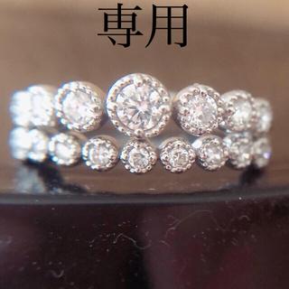 【abc様専用】プラチナダイヤモンドリング(リング(指輪))