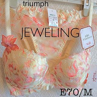トリンプ(Triumph)の【新品タグ付】triumph/ジュエリングブラE70M(定価¥12,650)(ブラ&ショーツセット)