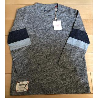 タグ付き 130センチ 柔らかコットン100% 七分袖Tシャツ