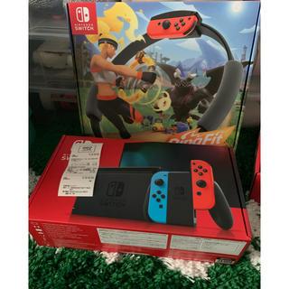 Nintendo Switch - ニンテンドー スイッチ ネオン 本体 リングフィット 新品
