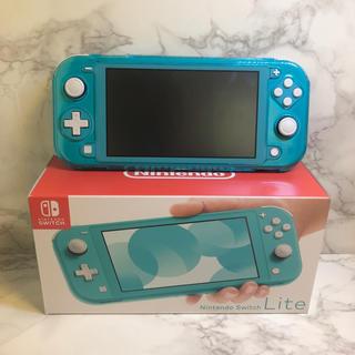 ニンテンドースイッチ(Nintendo Switch)のNintendo Switch  Lite ターコイズ ケース 保護フィルム付(携帯用ゲーム機本体)