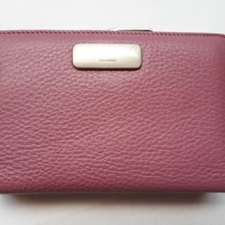 ミチコロンドン(MICHIKO LONDON)の財布 MICHIKO LONDON がま口タイプふたつ折りピンク色 未使用(財布)
