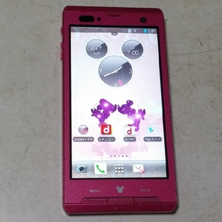 ディズニー(Disney)の富士通 Disney Mobile(ディズニーモバイル)F-08D(スマートフォン本体)