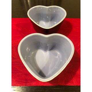 ルクルーゼ(LE CREUSET)のルクルーゼ♡パープル×ブラウン ハートラムカン2個セット(食器)