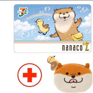 nanacoカード付きポーチ可愛い嘘のカワウソ