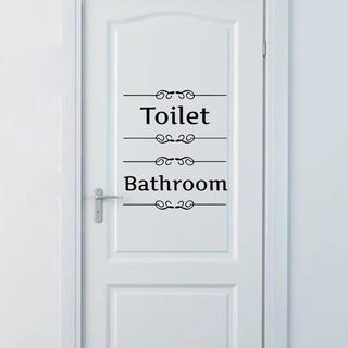 トイレ バス ステッカー お風呂 バスルーム エレガント おしゃれ 北欧(トイレ収納)