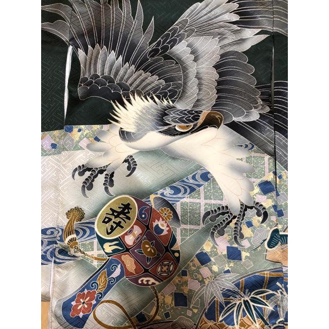 お宮参り 男の子 着物 長襦袢セット キッズ/ベビー/マタニティのメモリアル/セレモニー用品(お宮参り用品)の商品写真