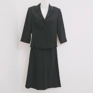 ストロベリーフィールズ(STRAWBERRY-FIELDS)のストロベリーフィールズ テーラードジャケット×ミディスカートスーツ 送料無料(スーツ)